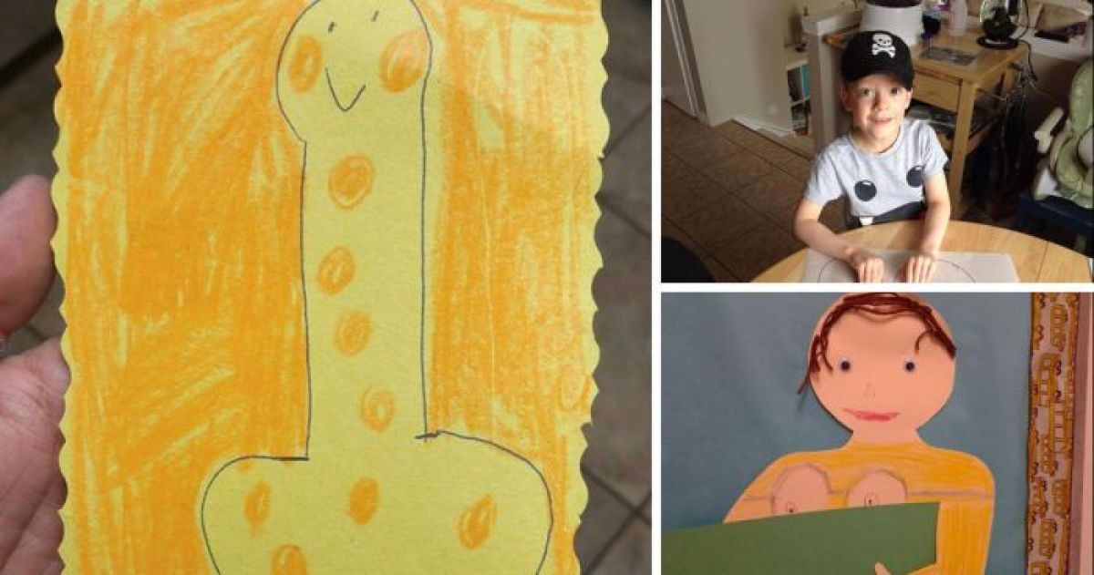 16 Works of Art By Children That Proves Your Mind Is In The Gutter