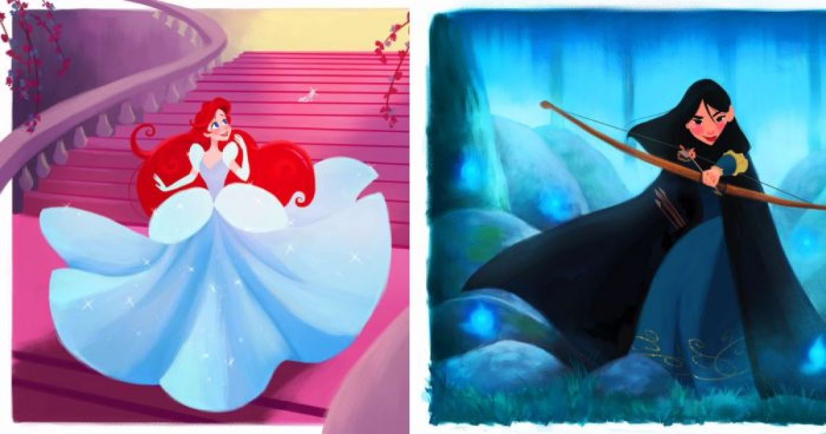 Disney Princesses Swapping their Outfits Looks So Good