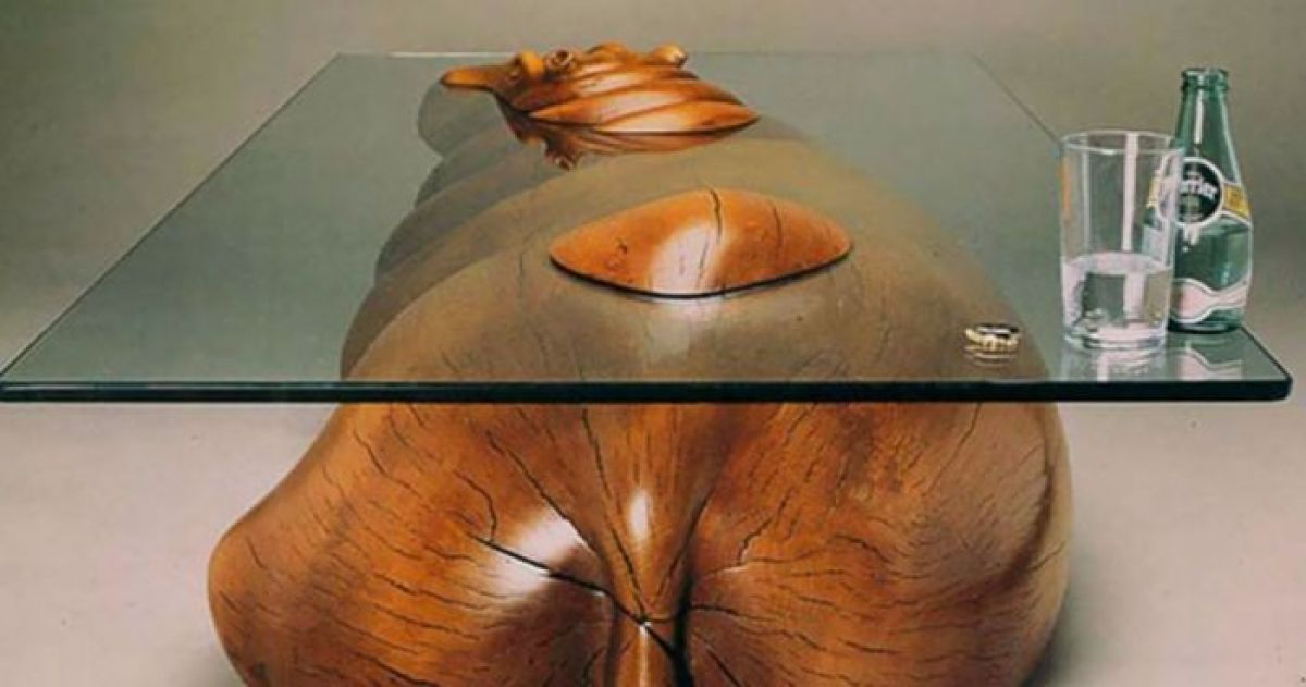 These Tables Are Designed To Create The Illusion Of Animals Emerging From Water