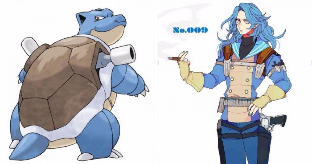 artist turns pokemon characters into anime