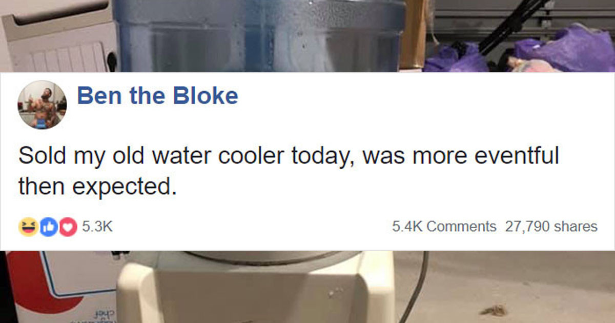 Guy on Facebook Sells His Water Cooler In Exchange For Eggs with Smiley Faces on Them