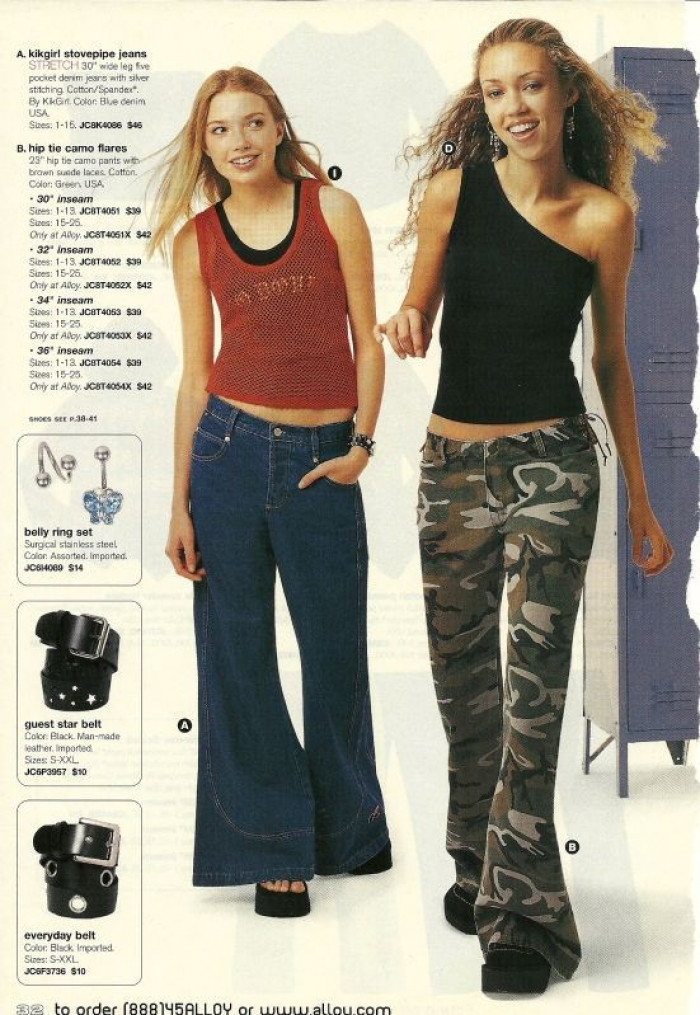 23. Extreme bell-bottom jeans