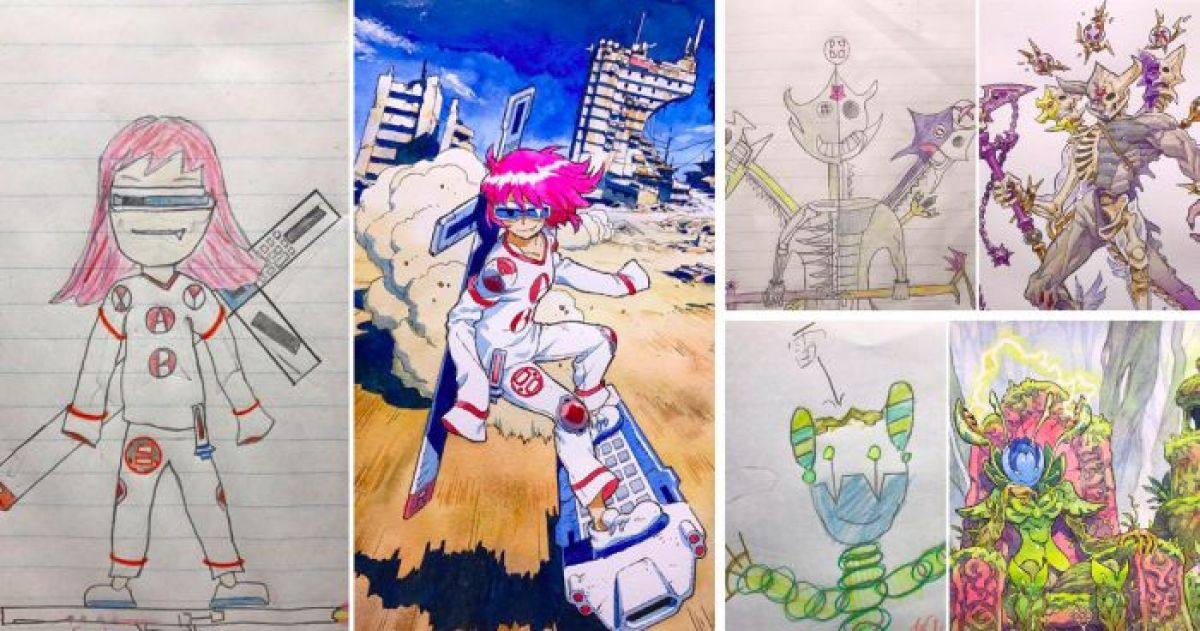 Awesome Dad is Turning His Son's Drawings Into Anime Characters, And The Result Is SPECTACULAR (Part II)