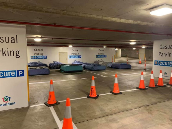 Australian charity, 'Beddown,' came up with the clever idea to make shelters out of places that are vacant at night, such as parking lots. The charity approached one of Australia's largest car park operators, Secure Parking, and they agreed to launch a two-week trial in Brisbane.