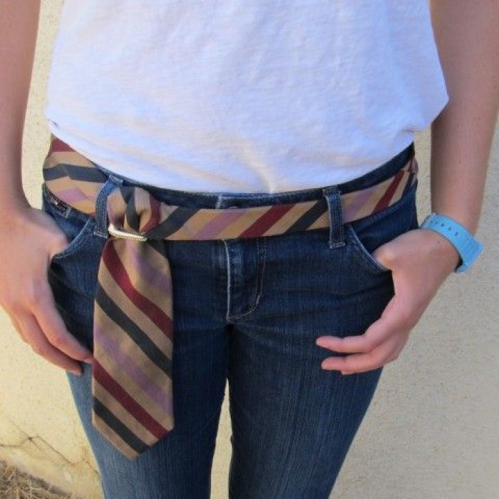 1. Wearing scarfs or ties as belts