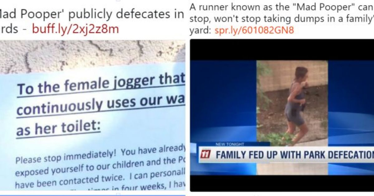 A Woman Dubbed The Mad Pooper Has Been Terrorizing Colorado Springs Because She Defecates On Peoples Property