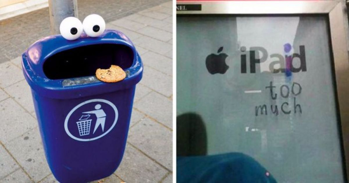 17 Pictures That Show Just How Smart and Creative Vandalism Can Be