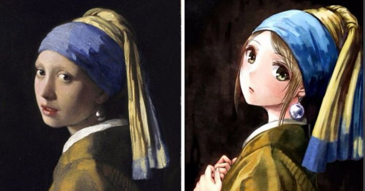 16 famous european paintings re imagined as anime