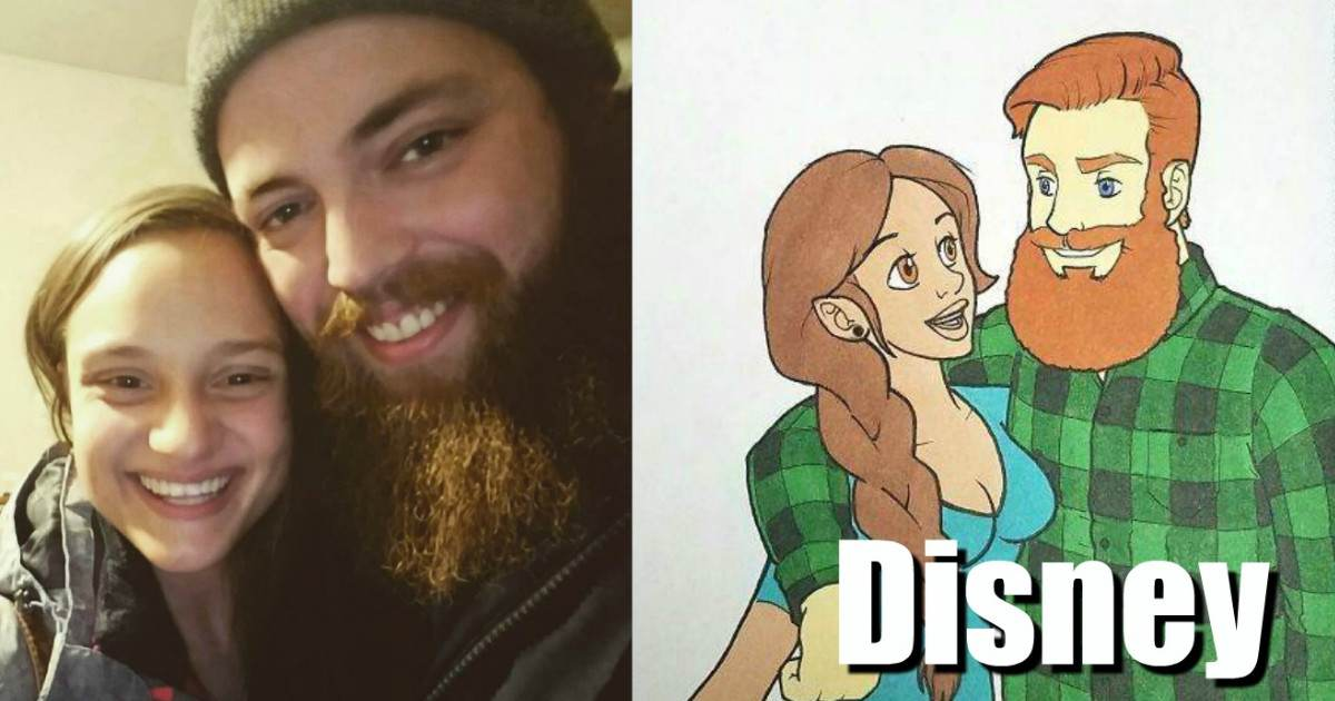 This Guy Surprised His Girlfriend By Drawing Them As Different Cartoon Characters And The End Results Are Just Too Good