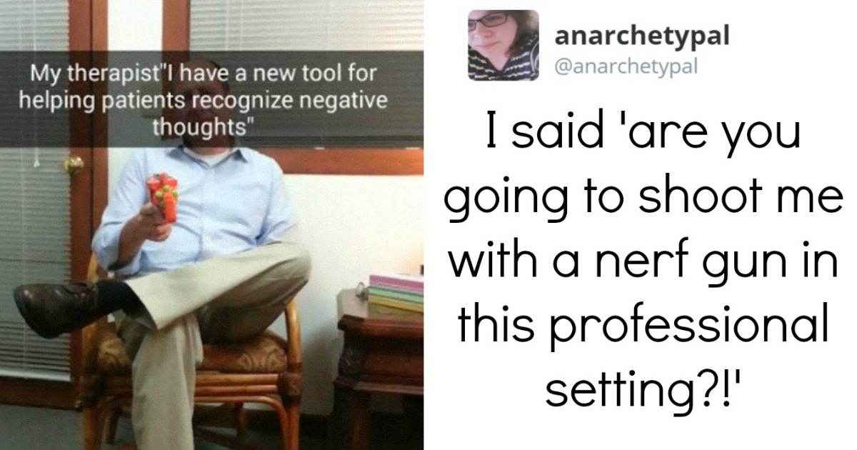 Therapist Treated His Depressed Patient Using An Alternative Method; Shooting Her With A Nerf Gun