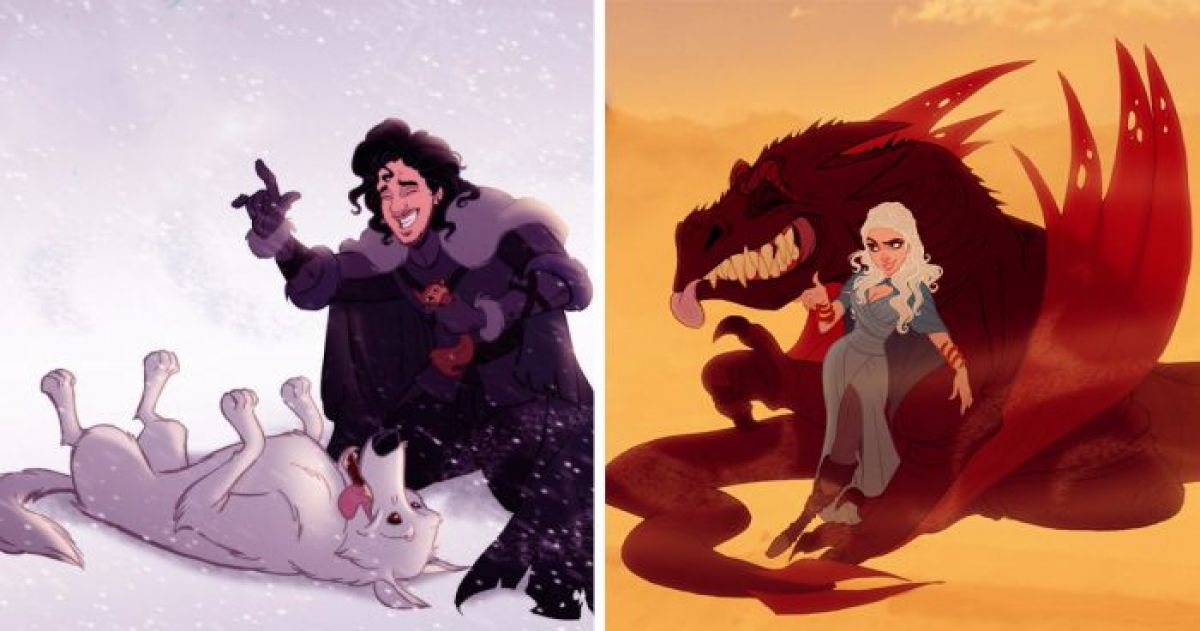 Game Of Thrones Characters Brilliantly Re-Imagined As Disney Animations