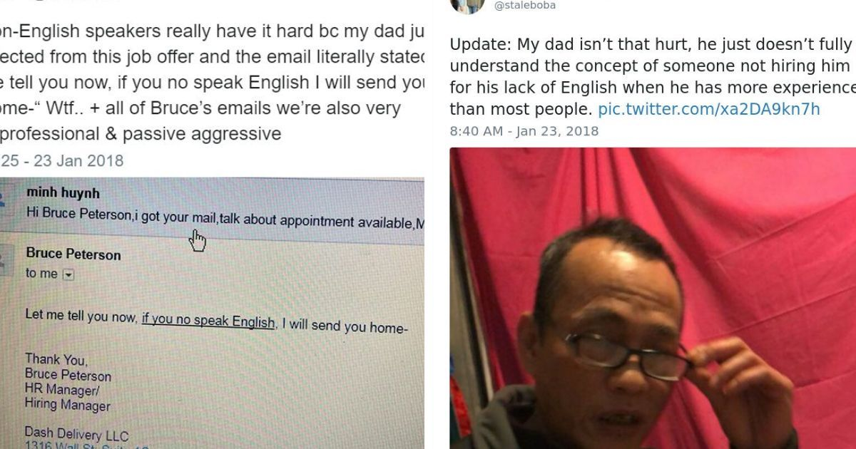 Immigrant Refused A Job In The Rudest Way Possible So His Daughter Makes The HR Department Suffer For It