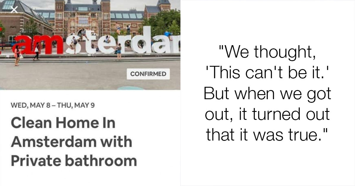 Man Discovers The Airbnb He Booked In Amsterdam Is An Actual Shipping Container