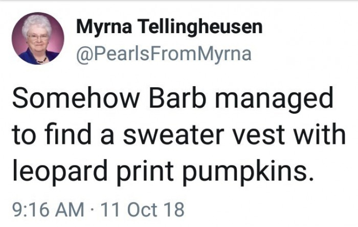 Barb needs to reconsider her fashion choices
