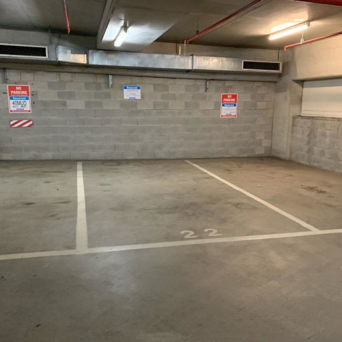 This is how the parking lot looked before 'Beddown' and a group of kind volunteers got turned it into a safe environment for homeless people to sleep.