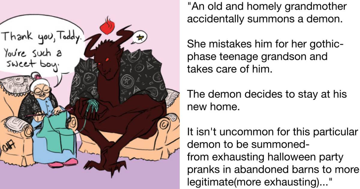 This Tumblr User Wrote a Short Story About a Grandmother Adopting a Demon and It's Surprisingly Touching