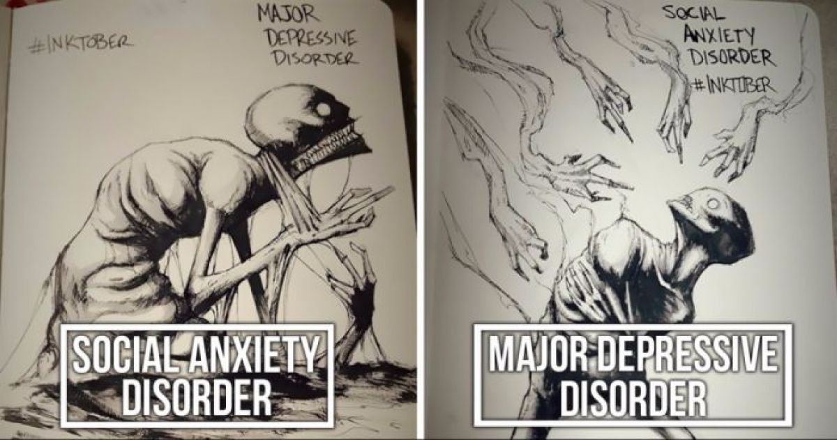 Talented Artist Perfectly Illustrates Mental Illness And Disorders