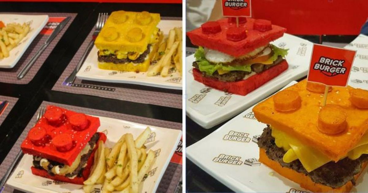 This Edible Lego Burger Is What Your Inner Child Craves