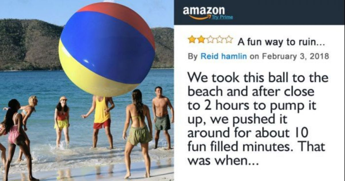 The Internet Can't Deal With This Amazon Customer's Honestly Hilarious Review Of A Giant Inflatable Beach Ball