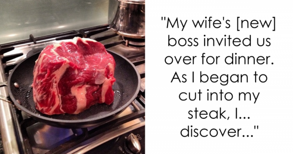 Husband Accompanies His Wife To An Important Dinner At Her New Boss' House And Let's Just Say The Outcome Was Pretty Hilarious